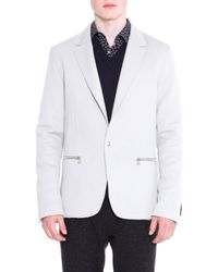 Lanvin | White Zip-pocket One-button Jacket for Men | Lyst