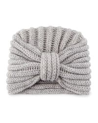 Rosie Sugden - Red Knit Cashmere Turban Hat - Lyst