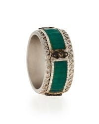 Armenta | Green New World Mosaic Stack Ring With Diamonds for Men | Lyst