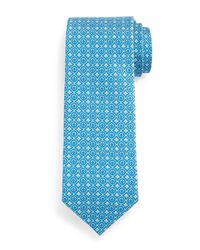 Ferragamo | Blue Geometric Gancini-print Tie for Men | Lyst