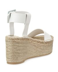 Vince - White Abby Leather Espadrille Sandal - Lyst
