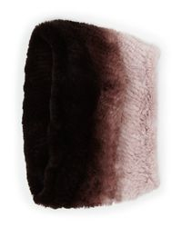 Neiman Marcus | Brown Ombre Fur Snood | Lyst