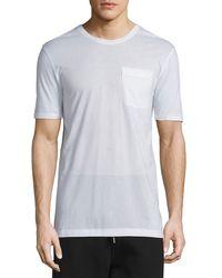 Helmut Lang | White Oversized Short-sleeve Jersey T-shirt for Men | Lyst