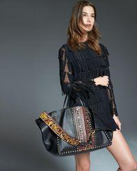 Valentino - Black Large Painted Rockstud Tote Bag - Lyst