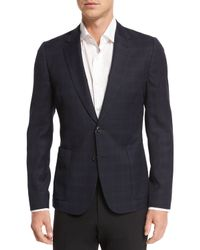 Paul Smith | Black Plaid Two-button Flannel Jacket for Men | Lyst