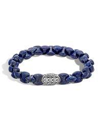 John Hardy | Blue Men's Batu Classic Chain Bracelet With Lapis for Men | Lyst