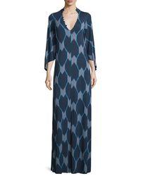Rachel Pally - Multicolor Rosaleen V-neck Java-print Column Maxi Dress - Lyst