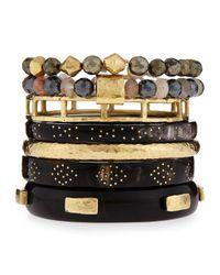 Ashley Pittman | Brown Mtindo Seven-piece Bracelet Set | Lyst