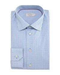 Eton of Sweden - Blue Contemporary-fit Check Dress Shirt for Men - Lyst