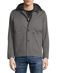 G-Star RAW - Gray Bronson Hooded Blazer W/removable Liner for Men - Lyst