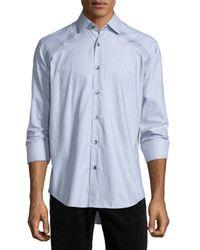 Bogosse | Gray Jacquard Long-sleeve Sport Shirt for Men | Lyst