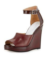 Maison Margiela | Multicolor Leather Ankle-wrap 105mm Wedge Sandal | Lyst