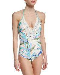 Ella Moss - Multicolor Birds Of Paradise Printed Halter One-piece Swimsuit - Lyst