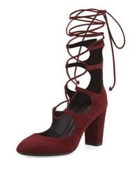 Giuseppe Zanotti - Red Bebe Suede Lace-up 85mm Pump - Lyst