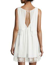 Elizabeth and James - White Callei Floral Crochet-trim A-line Dress - Lyst