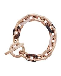 Michael Kors - Metallic Chain-link Toggle Bracelet - Lyst