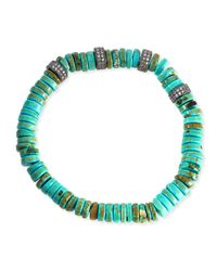 Tai   Black Green Turquoise Rondelle Bracelet   Lyst