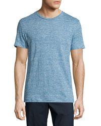 Theory | Blue Koree Linen Melange Short-sleeve T-shirt for Men | Lyst
