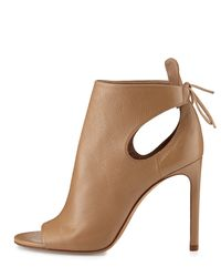 Vince - Natural Gabrielle Leather Cut-out Boots - Lyst