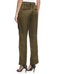 Elizabeth and James - Green Bode Drawstring Cargo Pants - Lyst