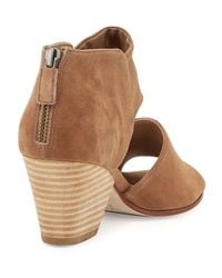 Eileen Fisher - Brown Chat Open-toe D'orsay Suede Boots - Lyst