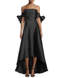 Sachin & Babi - Black Off-the-shoulder High-low Gown - Lyst