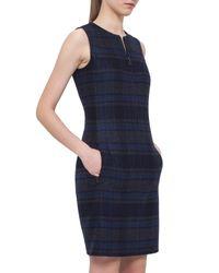 Akris - Blue Reversible Zip-front Sheath Dress - Lyst