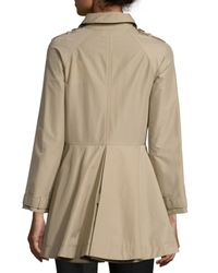 RED Valentino - Natural Double-breasted A-line Trench Coat - Lyst
