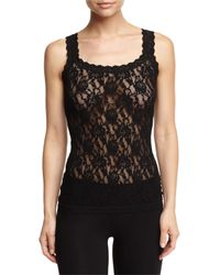 Hanky Panky | Black Lace Camisole Tank Top | Lyst