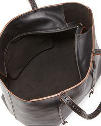 Elena Ghisellini - Black Milky Medium Leather Tote Bag - Lyst