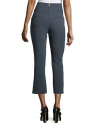 Maiyet - Gray High-waist Boot-cut Cropped Pants - Lyst