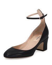 Valentino | Black Tango Patent Ankle-wrap Pump | Lyst