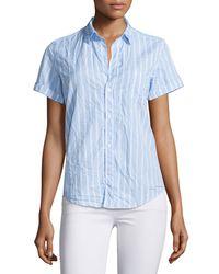 Frank & Eileen   White Billy Jean Striped Shirt   Lyst