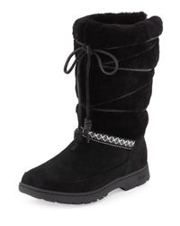 UGG | Black Maxie Lace-up Weatherproof Boot | Lyst
