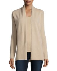 Neiman Marcus | Natural Cashmere Draped Cardigan | Lyst