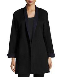 Neiman Marcus - Black Double-face Woven Cashmere Topper Jacket - Lyst