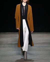 Narciso Rodriguez - White Wool Gauze Cropped Straight-leg Pants - Lyst