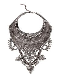 DYLANLEX - Metallic Ryker Crystal Statement Necklace - Lyst