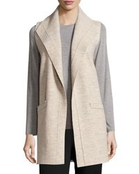 Eileen Fisher | Multicolor Icon Boiled Wool Long Vest | Lyst