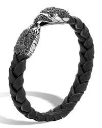 John Hardy | Black Men's Legends Batu Leather Eagle Bracelet for Men | Lyst