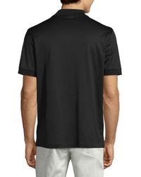 Brioni - Black Jersey Knit Polo Shirt for Men - Lyst