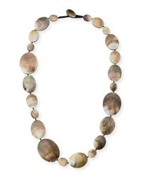 Viktoria Hayman | Metallic Long Shell Disc Necklace | Lyst
