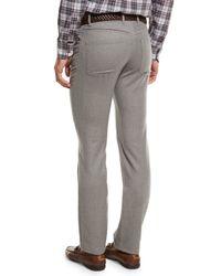 Peter Millar - Gray Wintertime Flannel Five-pocket Pants for Men - Lyst