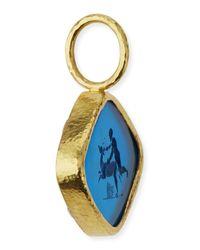 Elizabeth Locke - Metallic Rombo God & Deer Venetian Glass Intaglio Pendant - Lyst