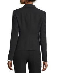 ESCADA - Black Embellished Collar Two-button Jacket - Lyst