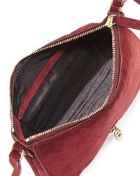 Elizabeth and James - Red Cynnie Suede Micro Crossbody Bag - Lyst