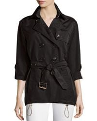 Burberry Brit - Black Knightsdale Hooded Trenchcoat - Lyst