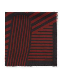 Tom Ford | Red Wide-stripe Pocket Square for Men | Lyst