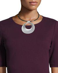Lafayette 148 New York | Purple Signature Circular Pendant Collar Necklace | Lyst