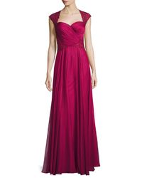 La Femme | Purple Ruched-bodice Sweetheart Gown | Lyst